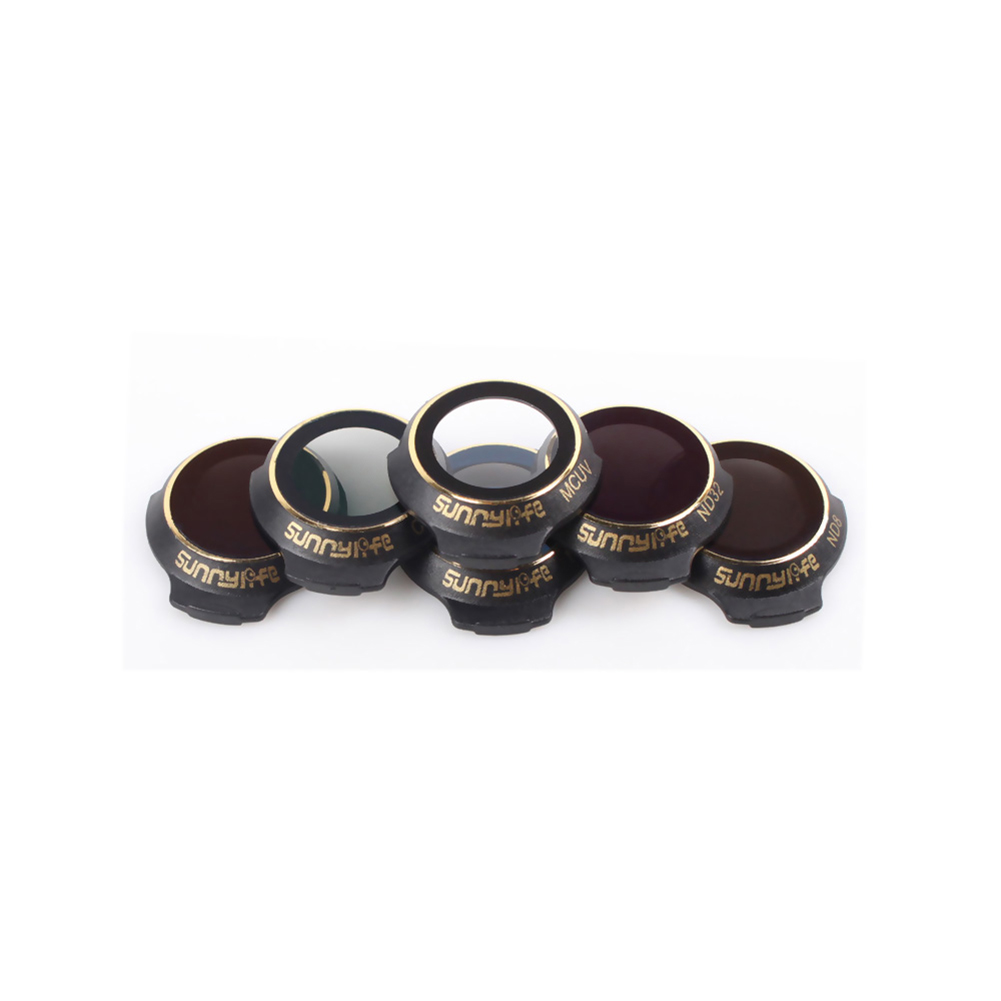Sunnylife Lens Filter Kit MCUV CPL ND4 ND8 ND16 ND32 for DJI MAVIC PRO PLATINUM & WHITE Lens/Camera Filter