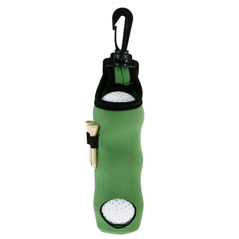 Portable Golf Small Waist Packing Bag 3 Balls + 3 Tee Small Accessory Bag  green