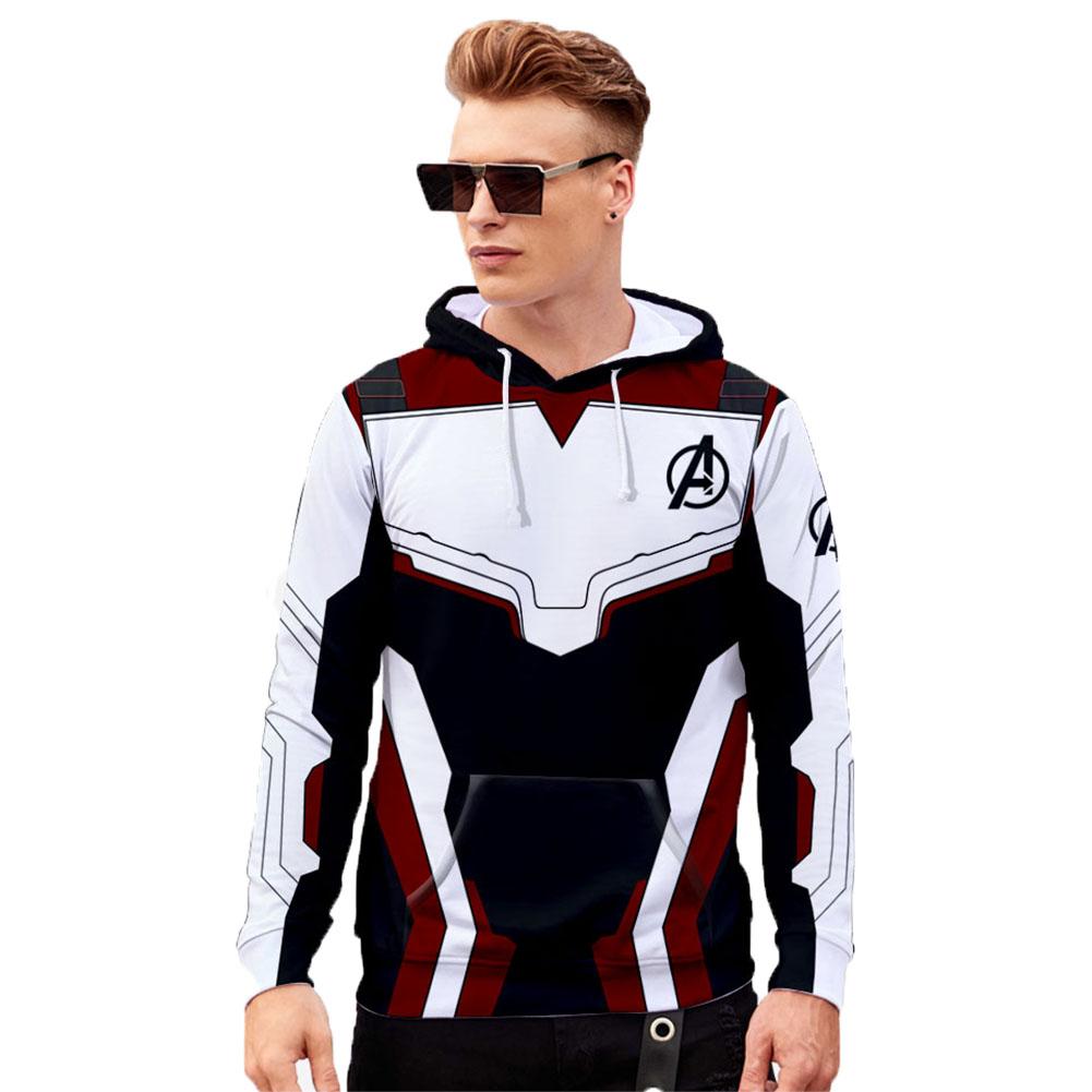 Unisex Advanced Tech 3D Fashion Pattern Long Sleeve Hooded Shirt Sweatshirts Q-3835-YH03_M