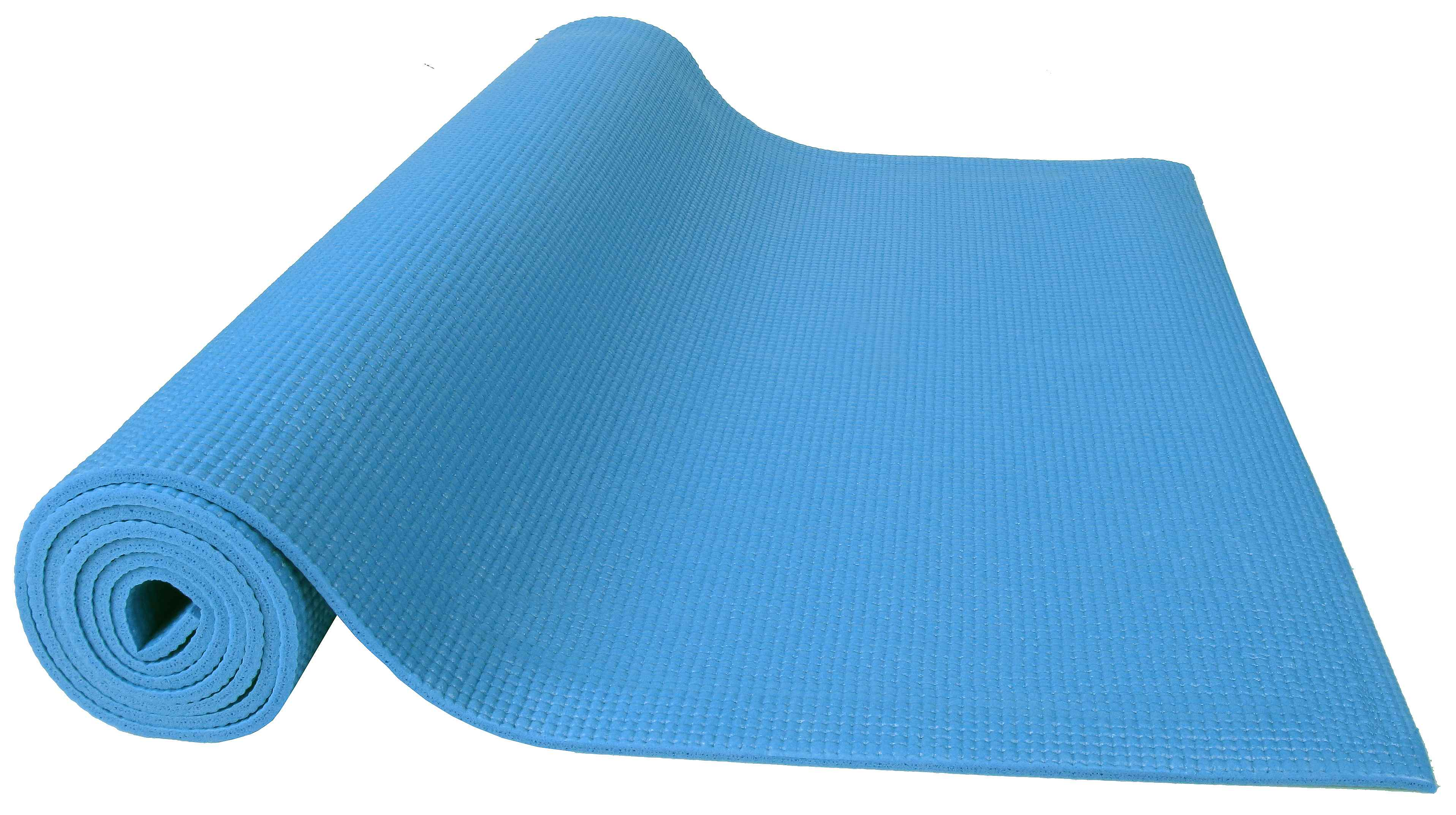 [US Direct] Original BalanceFrom GoYoga All Purpose High Density Non-Slip Exercise Yoga Mat with Carrying Strap, Blue Blue