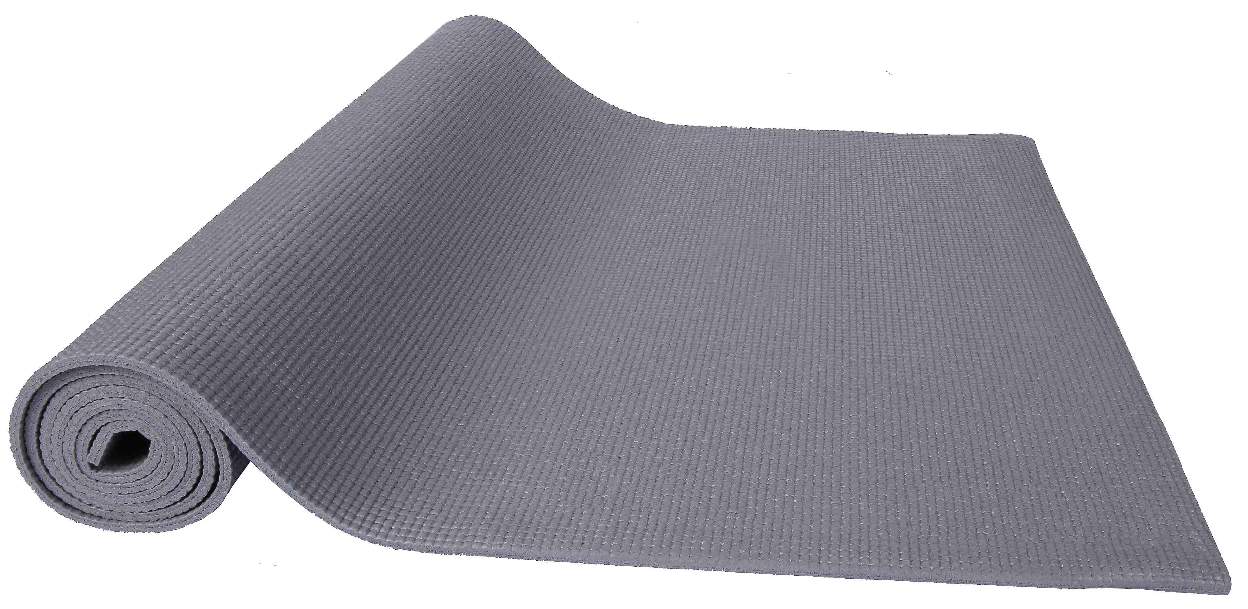 [US Direct] Original BalanceFrom GoYoga All Purpose High Density Non-Slip Exercise Yoga Mat with Carrying Strap, Blue Gray