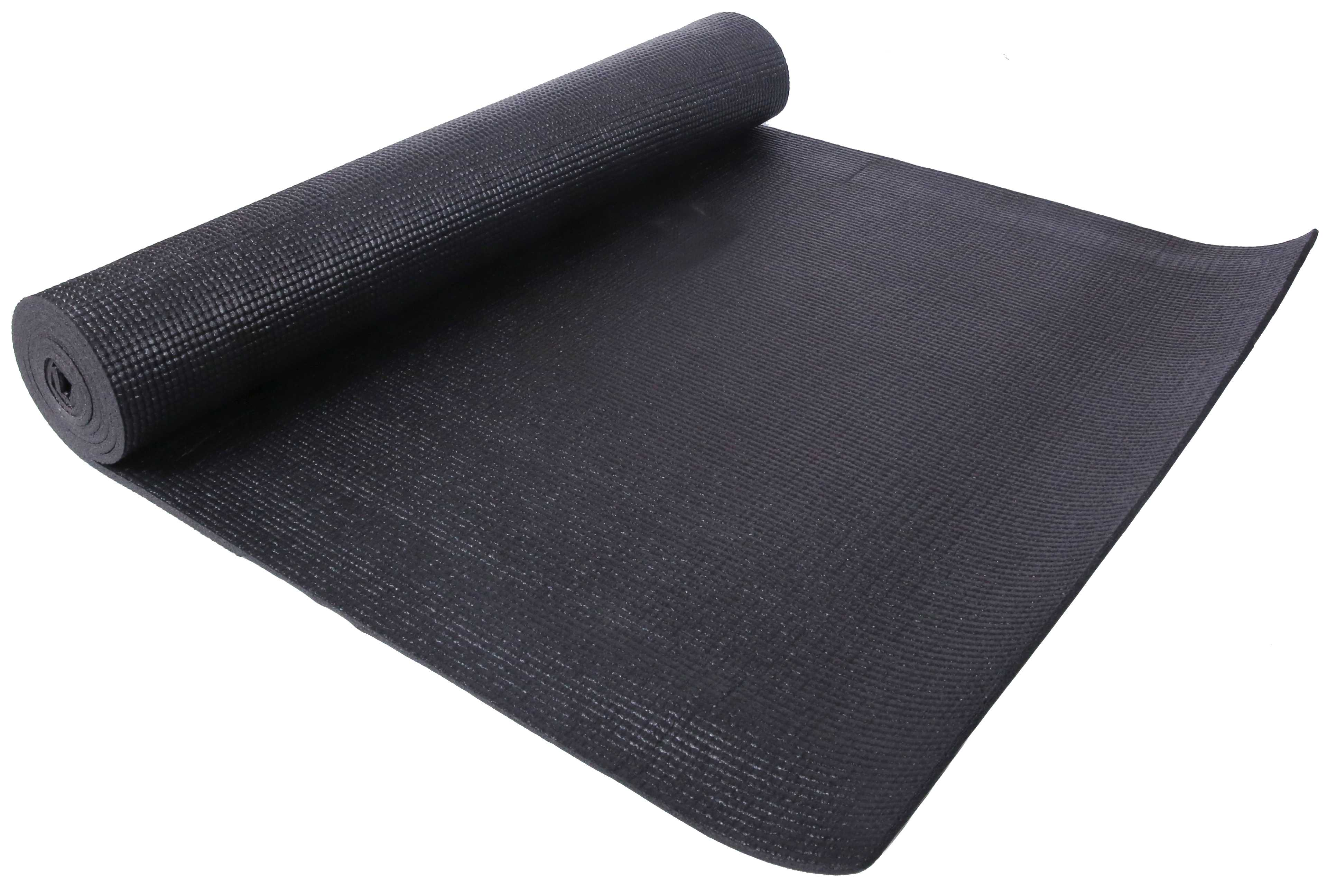 [US Direct] Original BalanceFrom GoYoga All Purpose High Density Non-Slip Exercise Yoga Mat with Carrying Strap, Blue Black