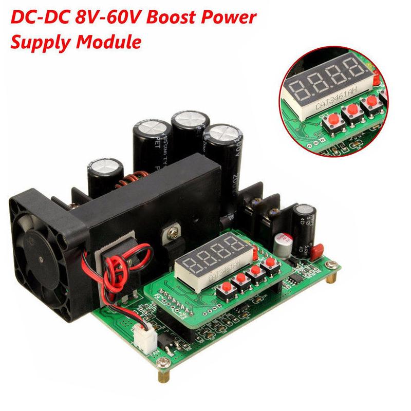 BST900W 8-60V to 10-120V DC Converter High Precise LED Control Boost Converter DIY Voltage Transformer Module Regulator BST-900W