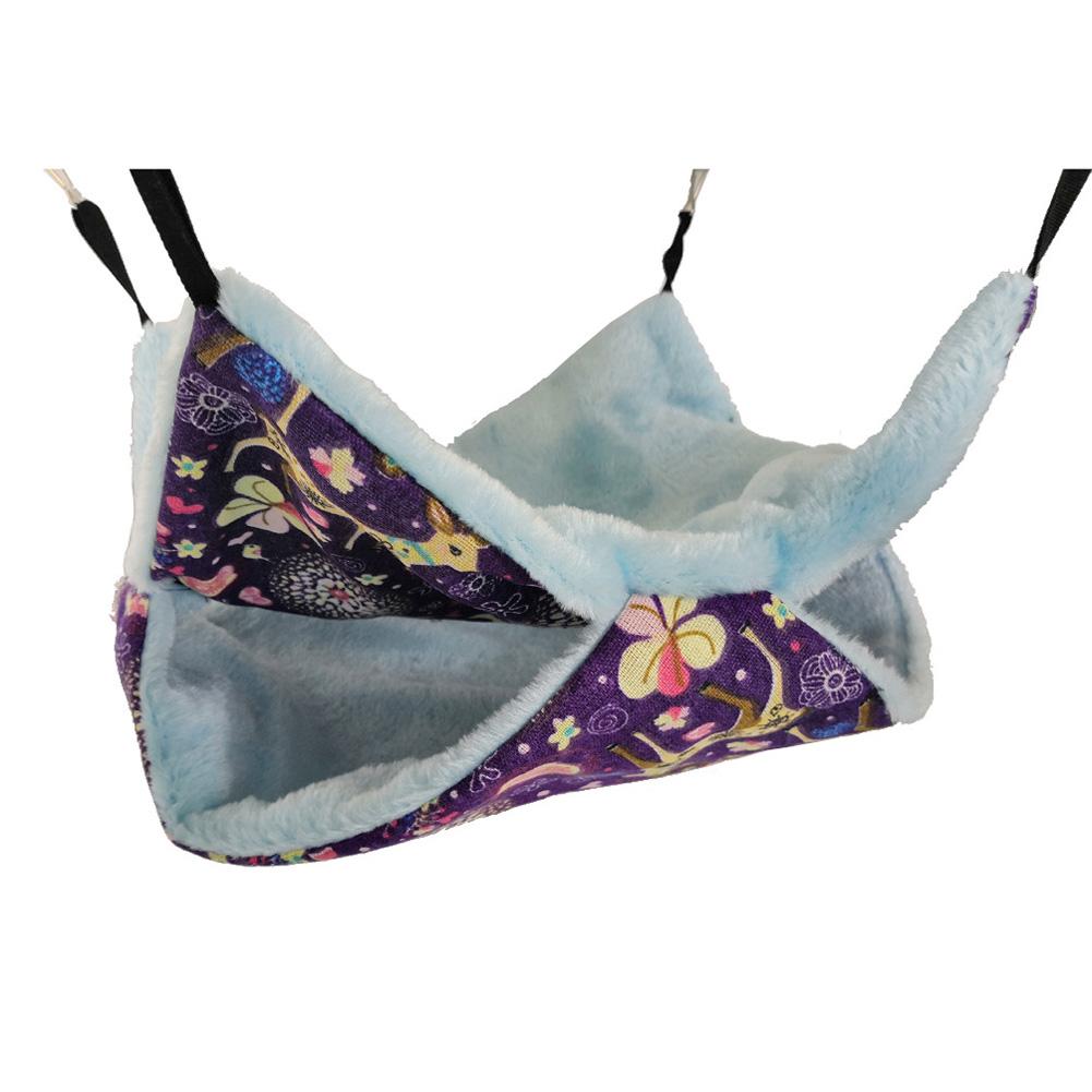 Warm Double Layer Hammock Hanging Plush Sleeping Bag for Squirrel Sugar Glider Small size 20 * 20_3#