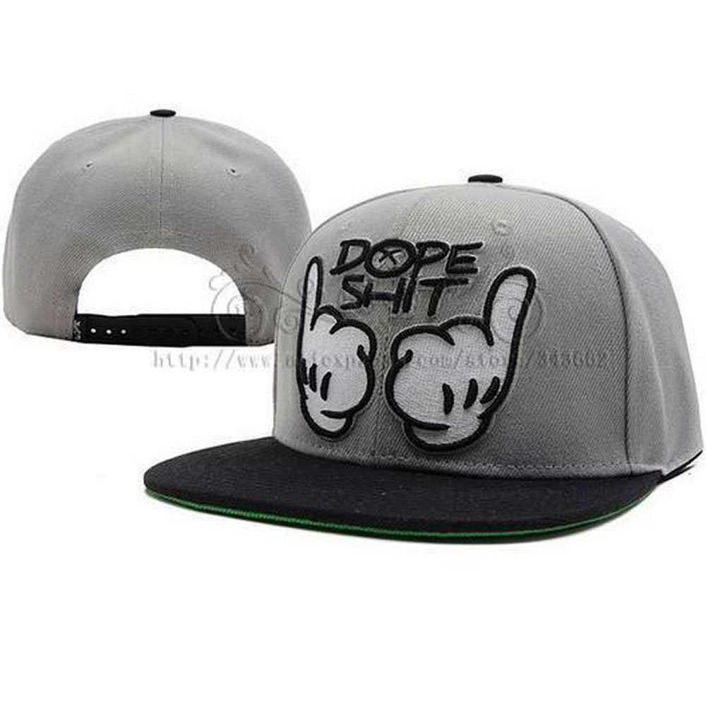[EU Direct] Dope Floral Snapback Hats Classic Gesture and Letter Snapback Caps for Men and Women