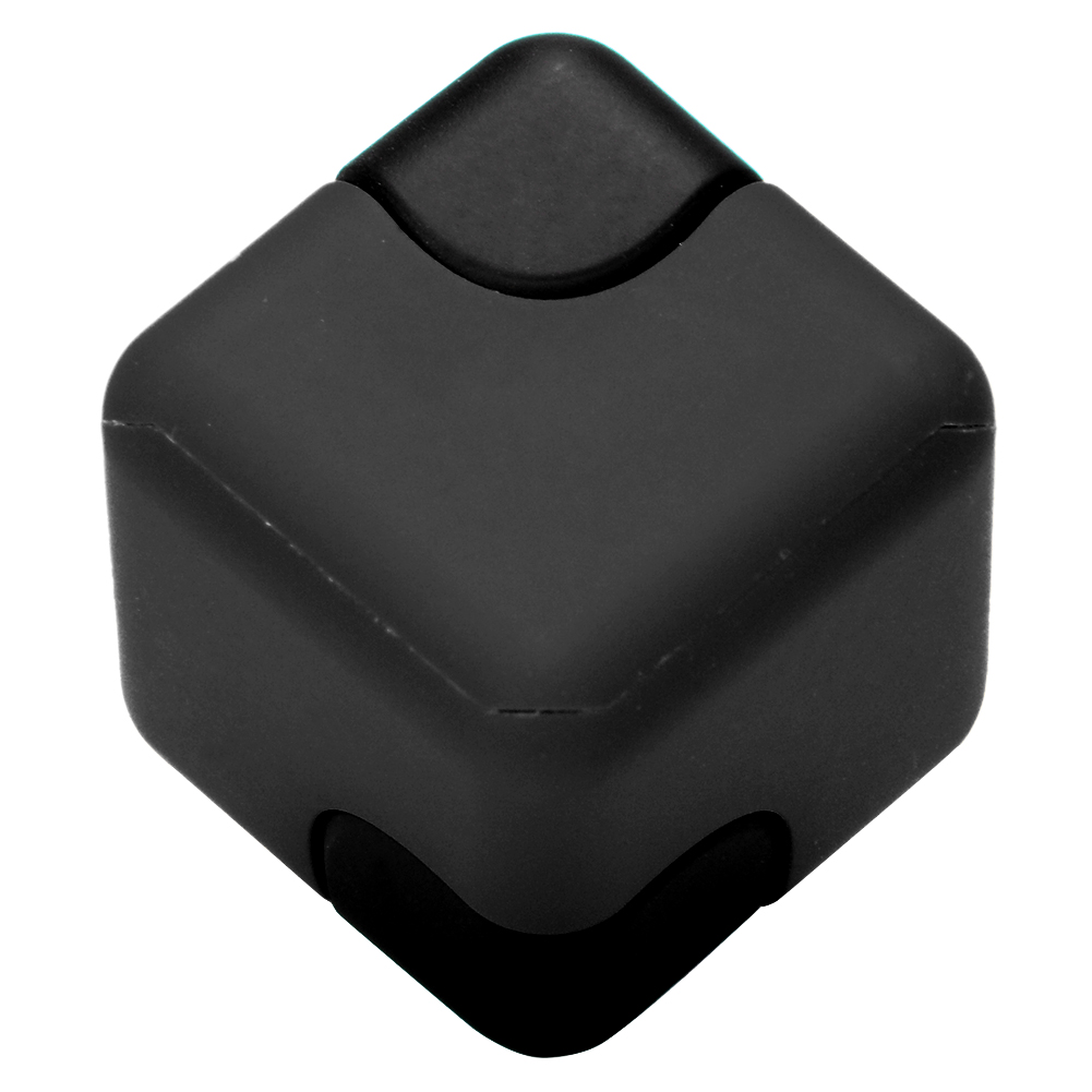 [EU Direct] Fidget Cube Spinner EDC Hand Spinning Dice Toy Stress Anxiety Reducer for Relief Focus Autism Anger ADD ADHD PTSD Gift Black