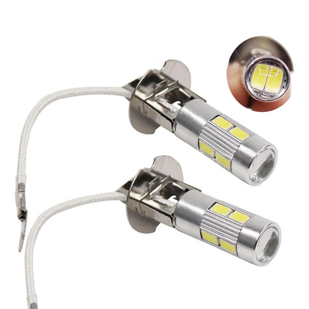 2 Packed 10 LEDs Fog Light Super Bright Car Driving Lamp H3-5630-10SMD-White Light