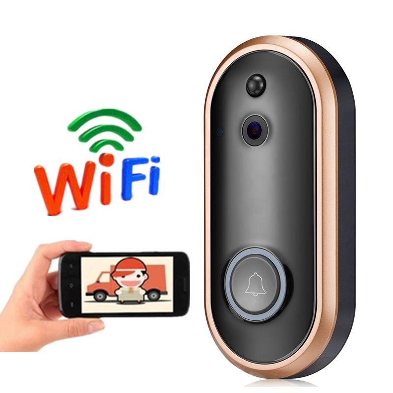 WIFI Video Doorbell HD 1080P Wireless Video Intercom Doorbell M6 Remote WIFI Smart Home Security M6-Gold-1080P