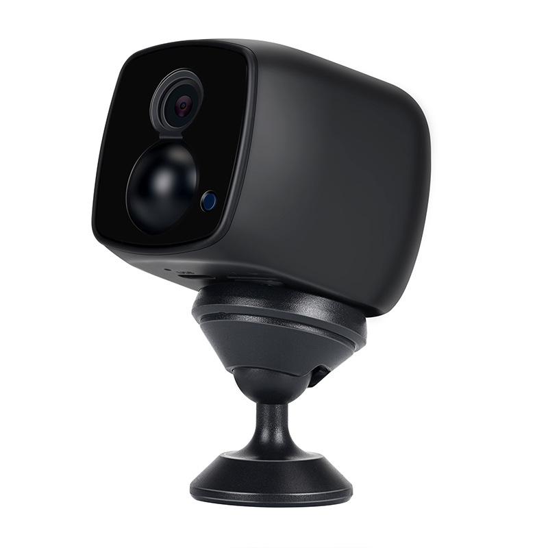 Mini Camera Low Power PIR Wireless 1920 * 1080 WiFi Camera Remote 2 Million HD Night Vision Human Sensor Black 1080P