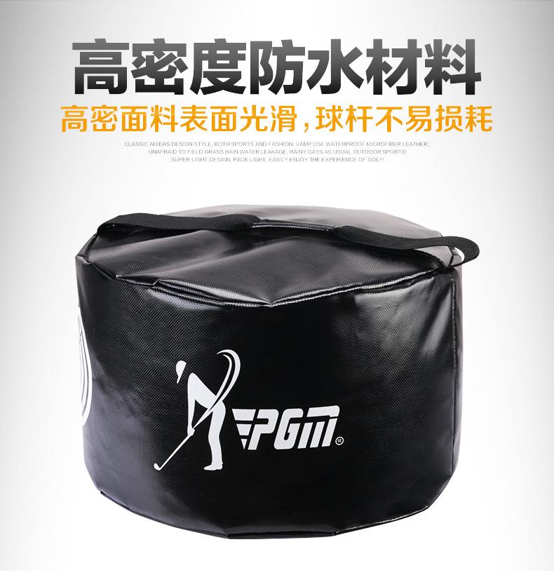 Power Impact Swing Waterproof Golf Practice Hit Training Strike Golf Bag Pack black