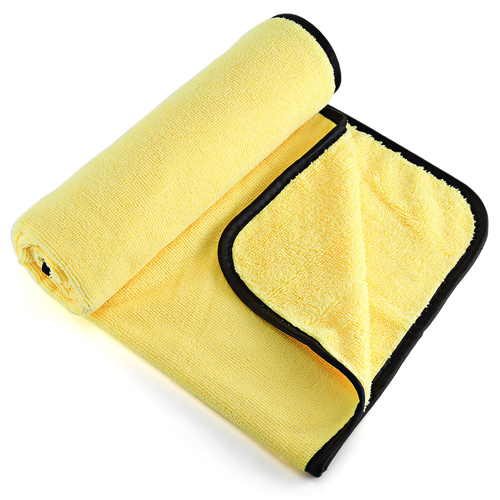 Car Clean Towels Car Cleaning Cloth Plush Microfiber Washing Drying Car Care Polishing Wash Towels Golden_92X56cm