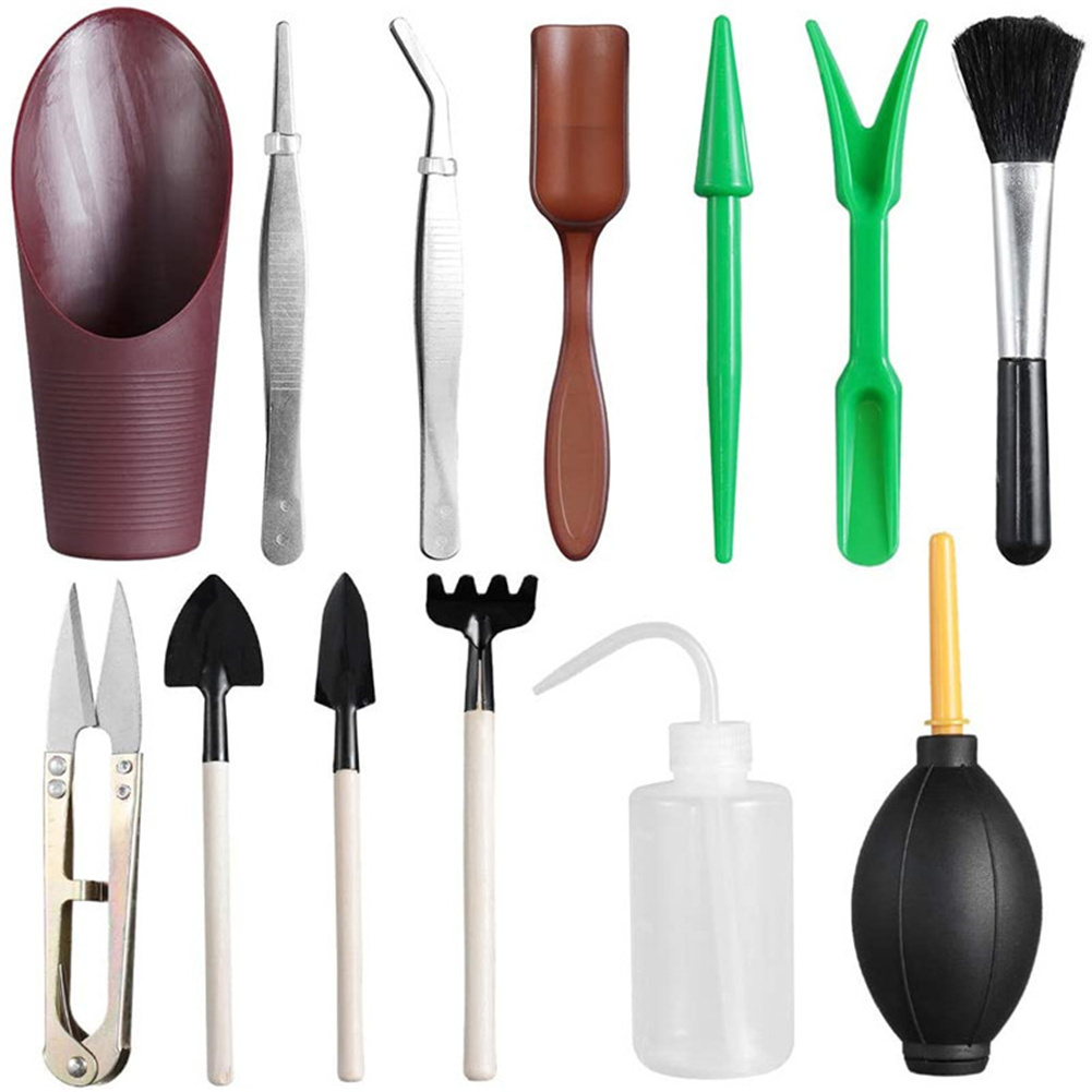 13pcs/set Mini Gardening Tools For Planting Succulent Flowers Outdoor Bonsai Gardening  Tools 13pcs