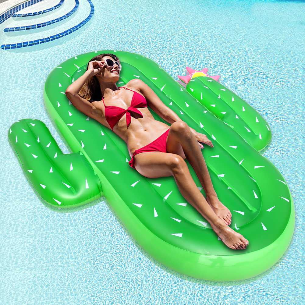 [US Direct] Inflatable Cactus Pool Float, Large Outdoor Swimming Float Lounge for Adults And Kids Summer Party Swimming Beach Holiday