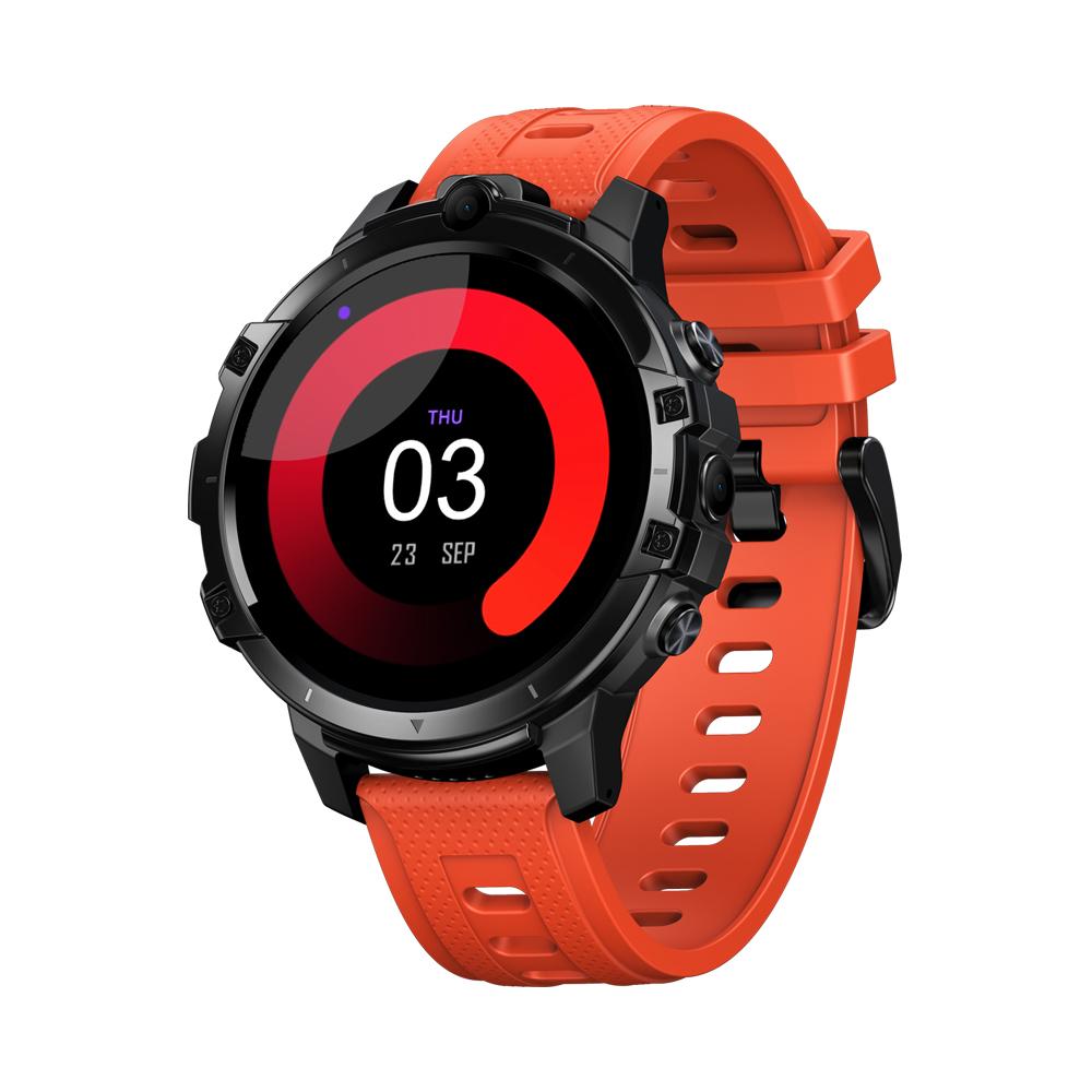 Original ZEBLAZE Smart  Watch 4g Card 64g8 Core Chip Dual Camera 1.6 Inch Gps Heart Rate Detection Orange