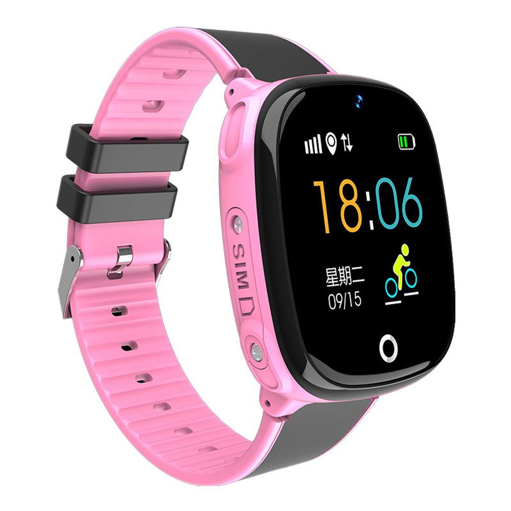 Children Smart Watch GPS Positioning Wristwatch Card Photo Camera for Student Kids Pink