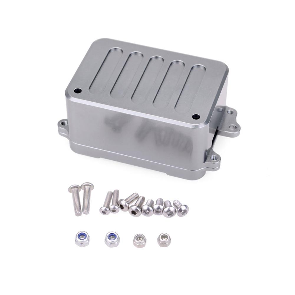 Metal Receiver Case ESC Box for 1/10 RC Crawler Car Axial SCX10 RC4WD D90 D110 Upgrade Parts Silver