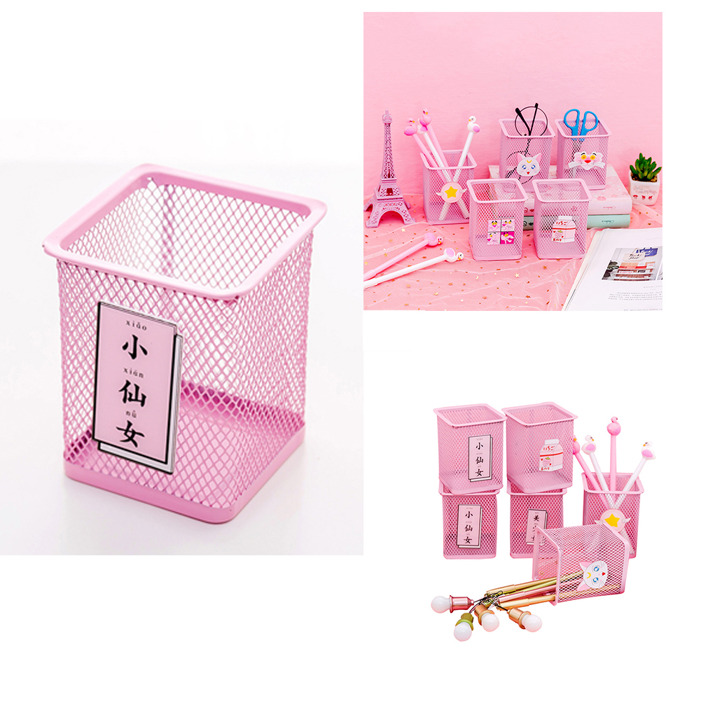 Cute Simple Hollow Pen Container Stylish Pen Holder Decoration School Office Supplies