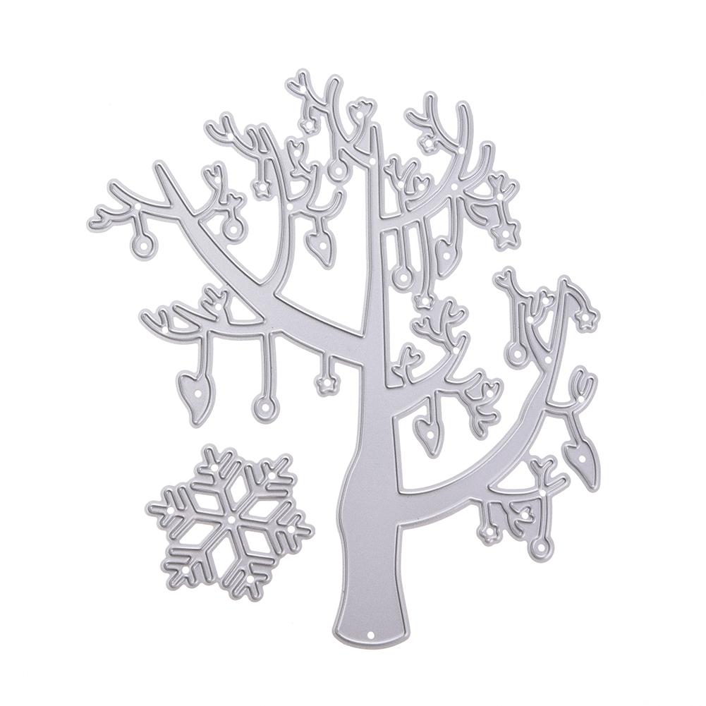 New Tree Cut Die Metal Stencil Template Mould for DIY Scrapbook Embossing Album Paper Card Craft