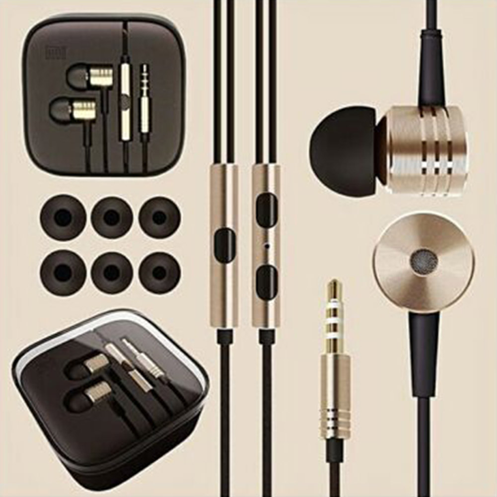 MI3 Piston Metal In-ear 3.5mm Interface High Quality Wired Headset for Android Gold