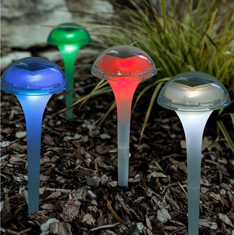 6PCS RGB 7 Colors Change LED Solar Garden Light Outdoor Waterproof Lawn Lamp for Decoration
