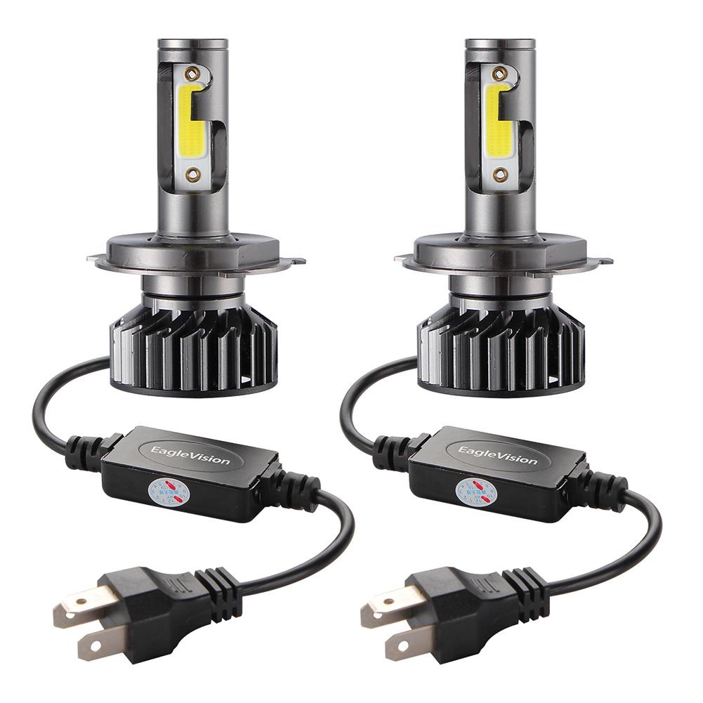 2PCS Mini Car LED Headlight Bulb H1 H7 H8/H9/H11 9005/HB3 9006/HB4 H4/HB2/9003 Hi/Lo 72W 10000LM 6000K Car Headlamp H4/HB2/9003 Hi/Lo