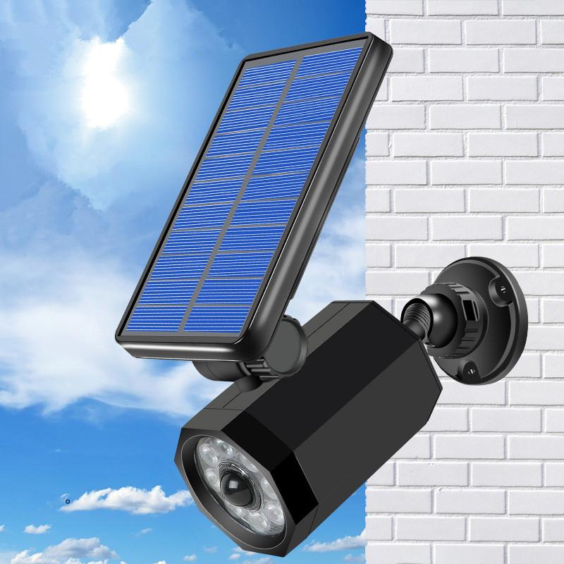 Solar Simulate Camera Outdoor Waterproof Security Sensor LED Wall Light