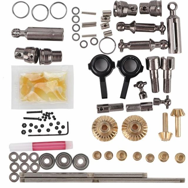 For 1/16 WPL B14 B24 B26 C14 C24 RC Car 6WD Full Metal OP Fitting Kit