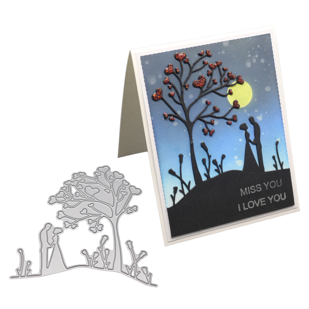 DIY Romantic Lovers Pattern Carbon Steel Cutting Dies for Confession Scrapbooking 1805060