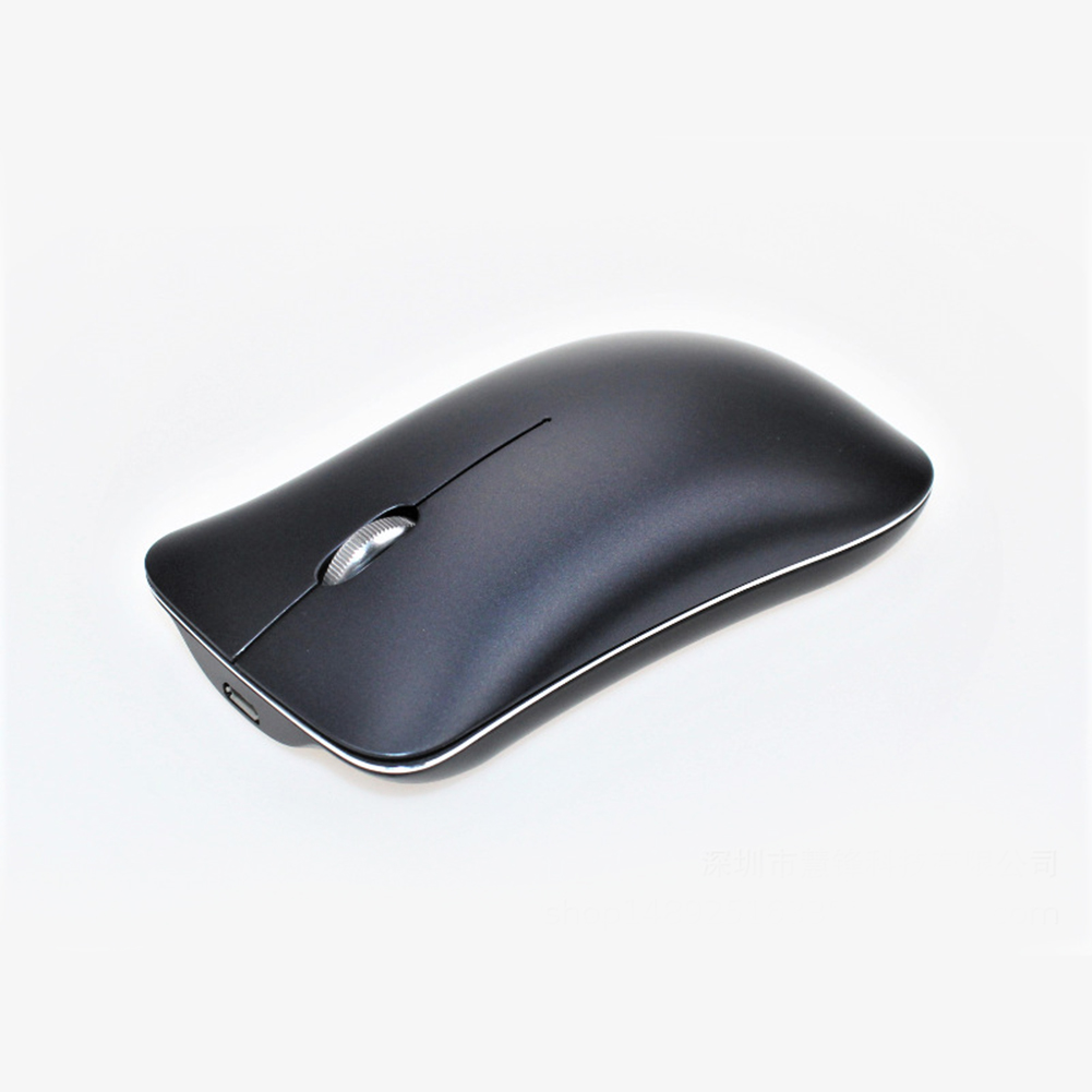 Bluetooth 5.0+3.0+2.4G Three-mode Mute Rechargeable Mouse Ultra-thin Aluminum Wireless Mouse Black