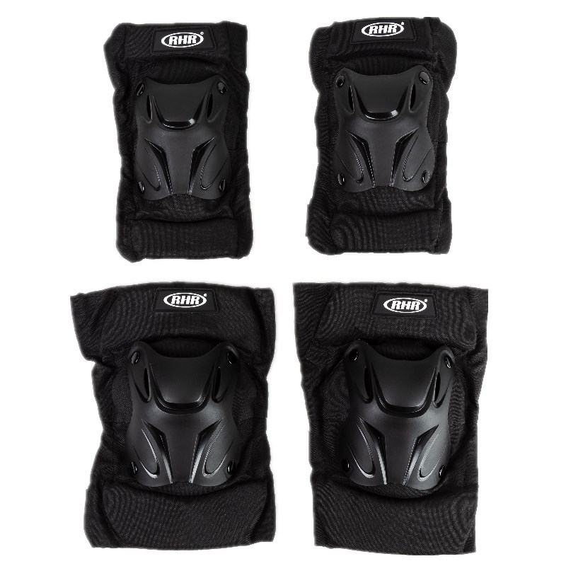 Motorcycle Knee  Pads Guards Bike Motocross Knee Protectors Brace Support Knee and elbow pads 4-piece set