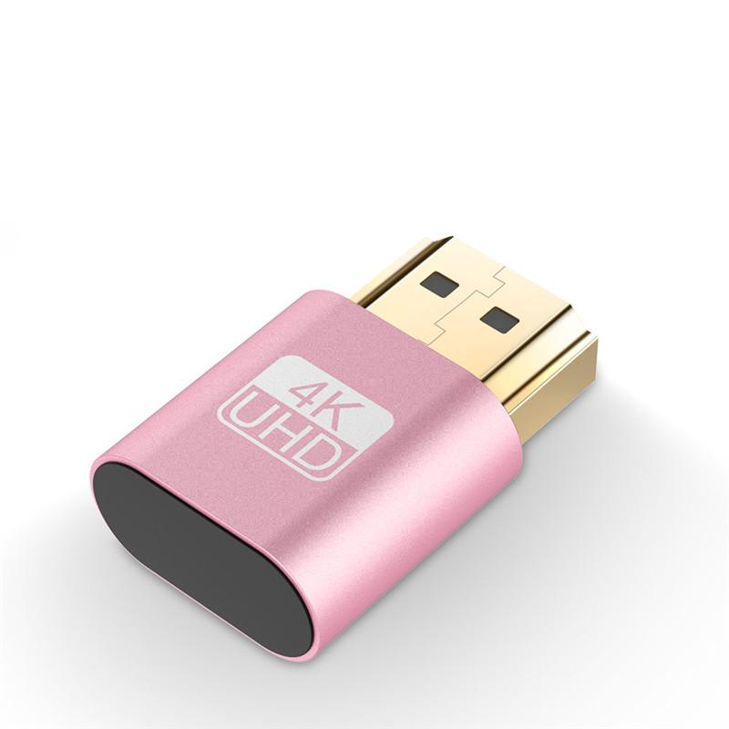 HDMI Virtual Display 4K HDMI DDC EDID Dummy Plug EDID Display Pink