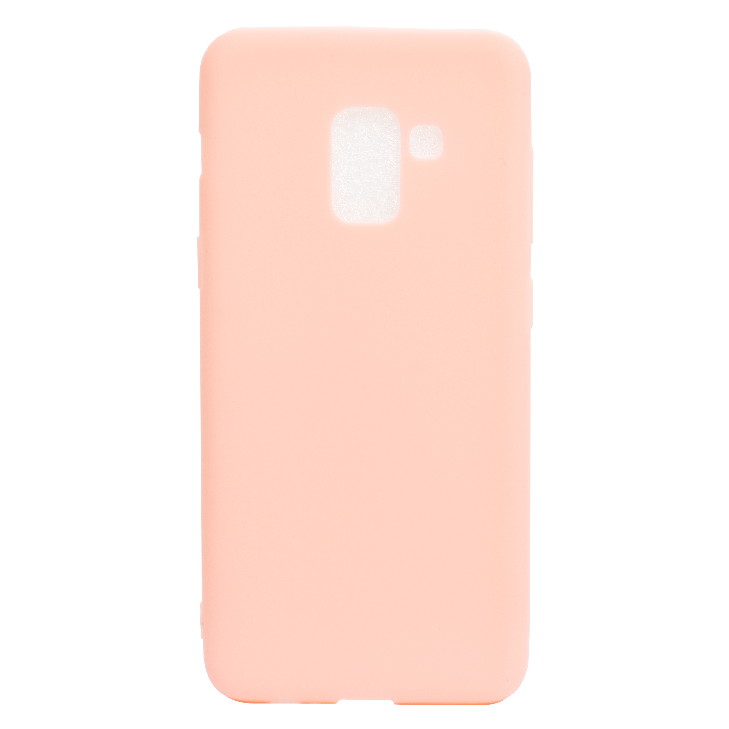 for Samsung A8 2018 Lovely Candy Color Matte TPU Anti-scratch Non-slip Protective Cover Back Case Light pink