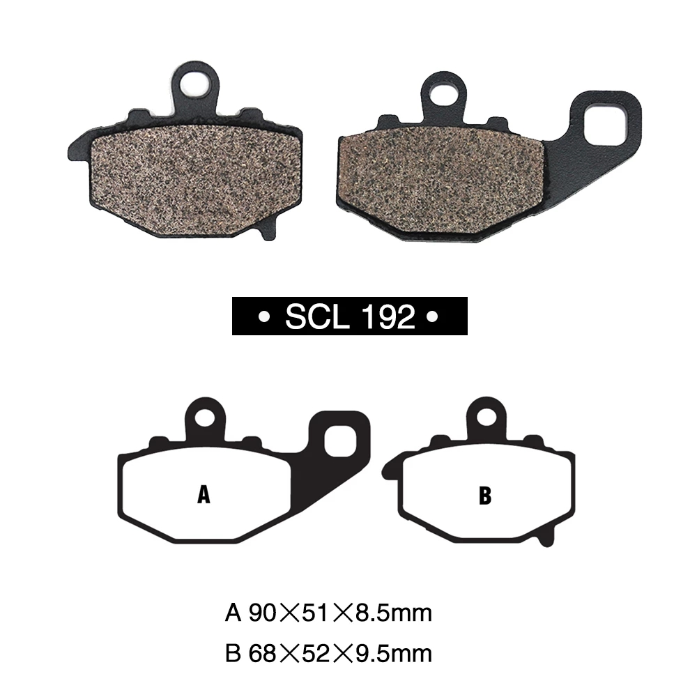 1 Pair Motorcycle Front And Rear Disc Brake Pads Set For Kawasaki Kle 650 Kle650 Versys 07-14 192 Rear 1 set