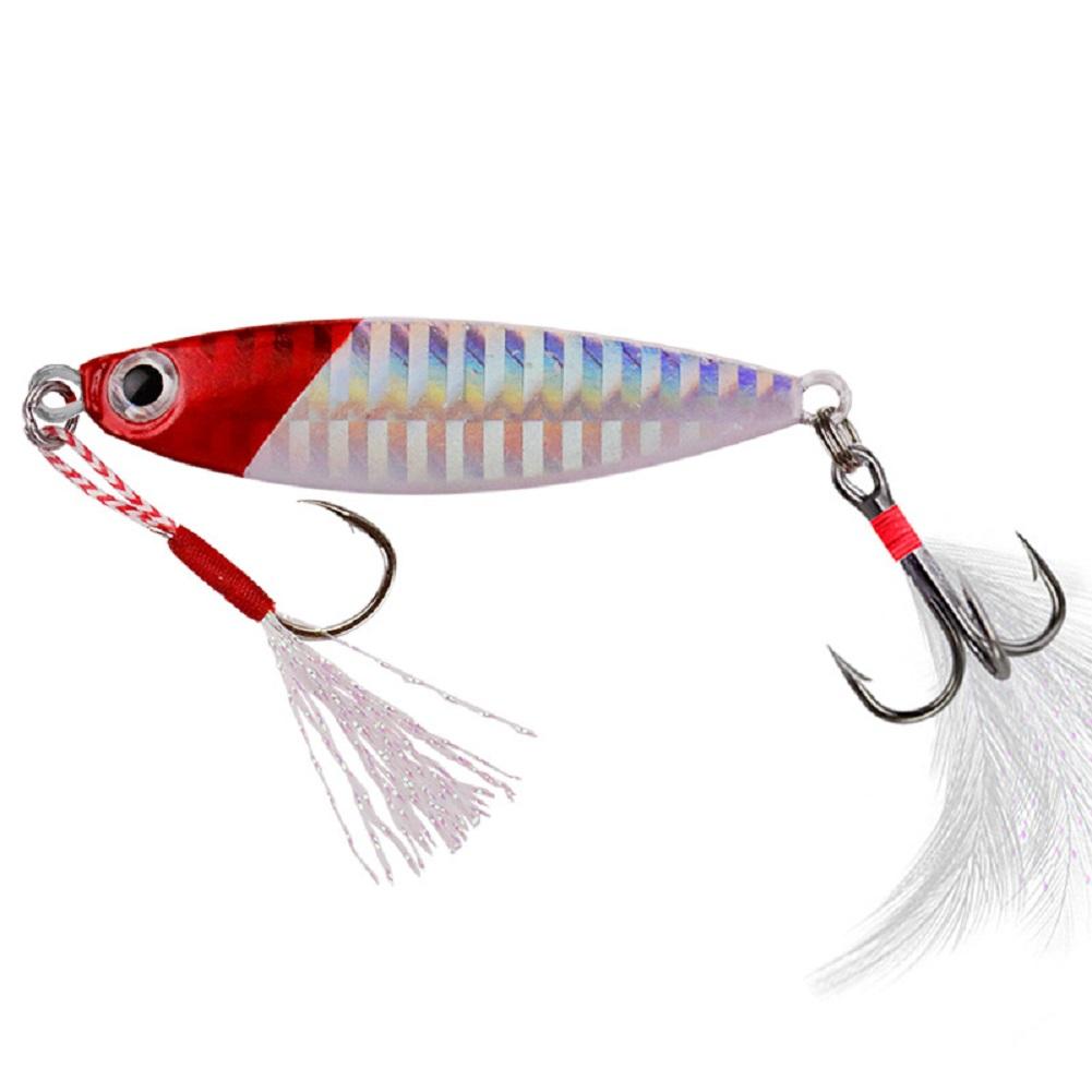 Fishing Lure fishing jigging lure spoon spinnerbait Sheet Iron All Metal Mini Lead Fish Fishing Lure Trolling 7g10g15g20g Color 5_15g
