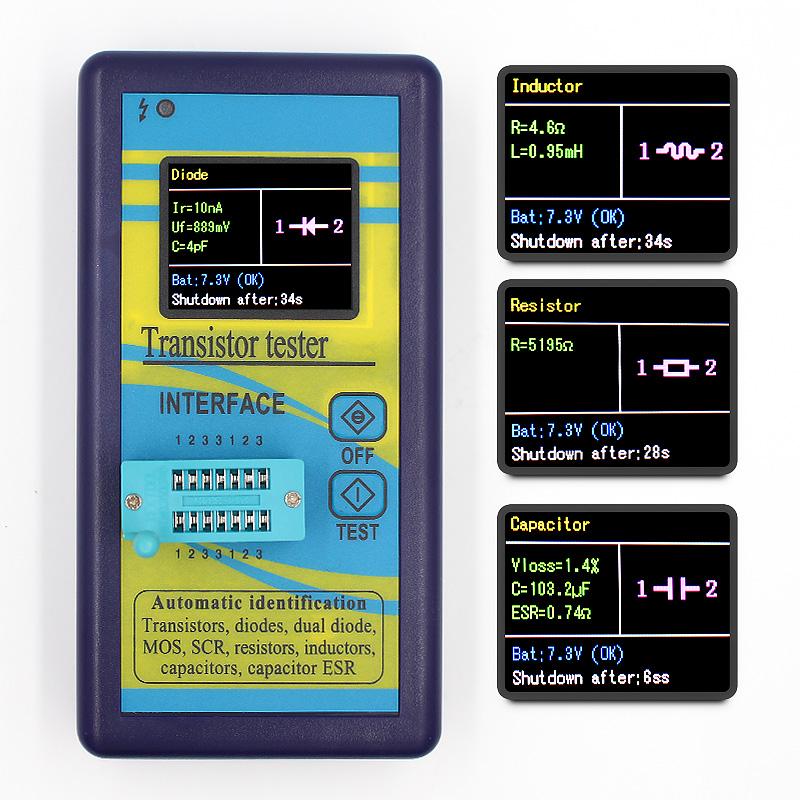1.8in TFT LCD Transistor Tester Diode Triode Capacitance Meter LCR ESR colors