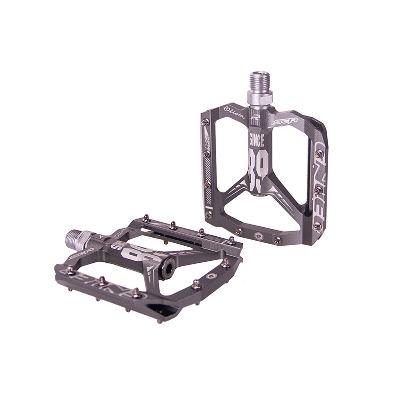 Bicycle Ultra Light Bearing Aluminum Alloy Pedal Mountain Bike Riding Spare Parts Titanium_One size