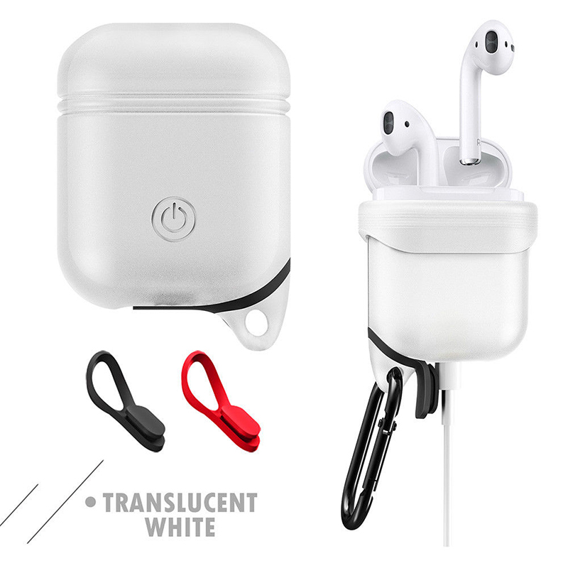360° Protective Shockproof Case Cover for Airpods Bluetooth Handfree Earphone transparent white