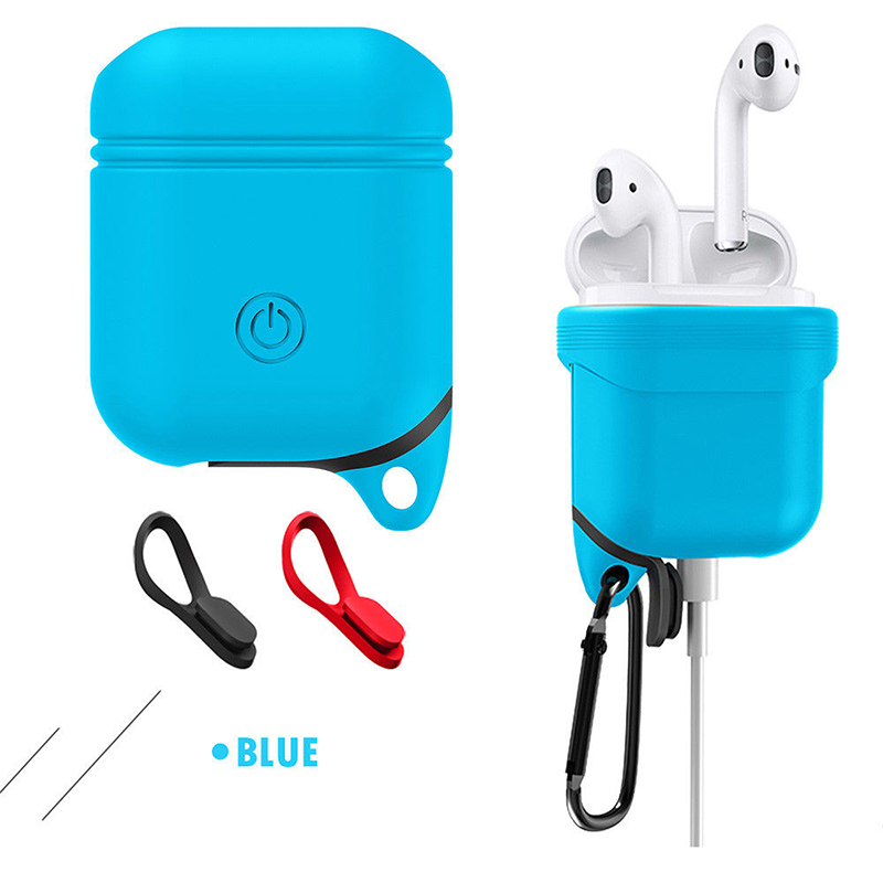 360° Protective Shockproof Case Cover for Airpods Bluetooth Handfree Earphone blue