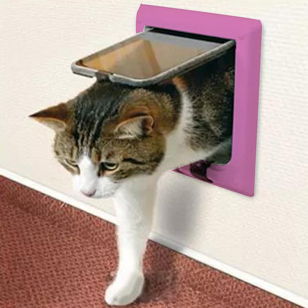 Pink Pet Flap Dog Cat Door Pet Care Supplies Pet Toy