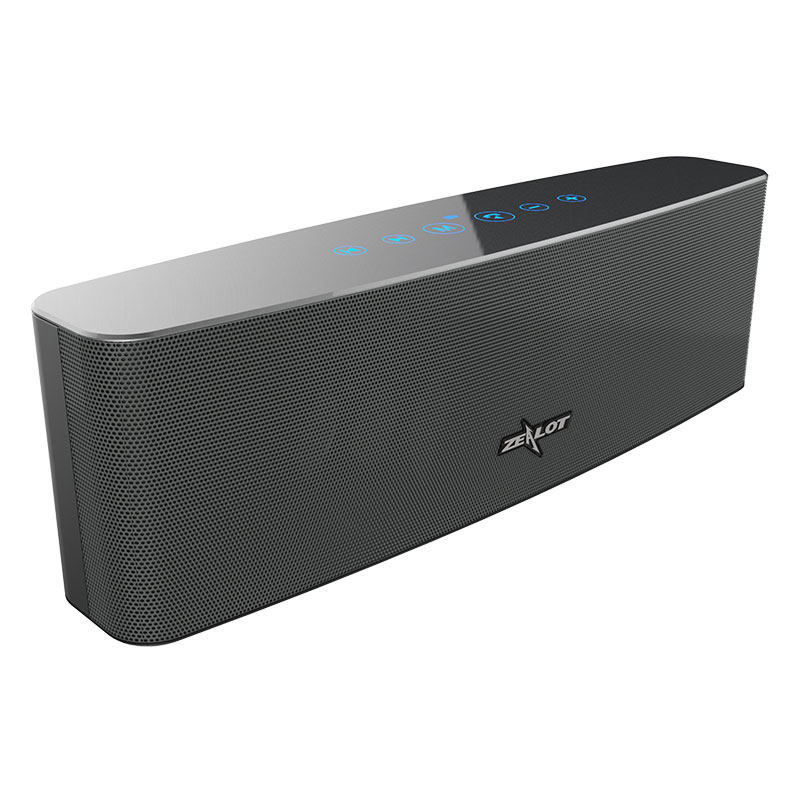 Original ZEALOT S12 Bluetooth Speaker with Mic - Black
