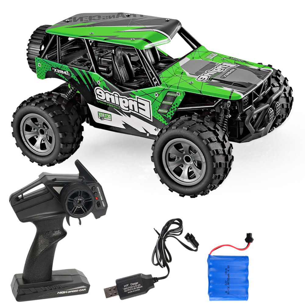 Rc  Car Remote Control High Speed Vehicle 2.4ghz Electric Toy Model Gift 680 green