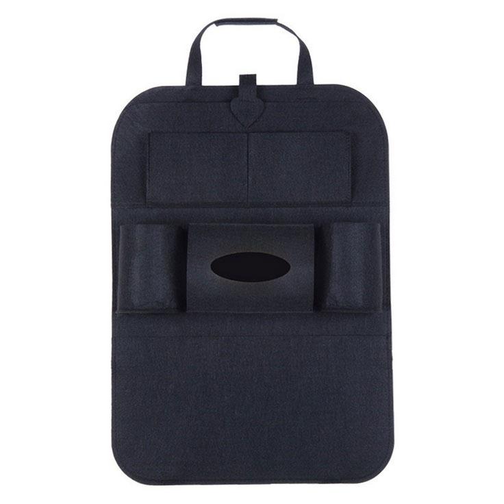 Storage Bag Felt Storage Bag CarStorage Hanging Bag Mobile Phone Flat Storage Bag black
