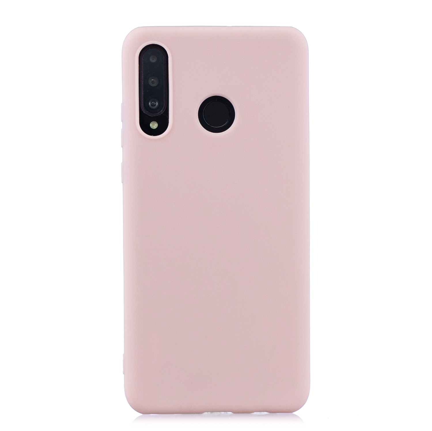 For HUAWEI P30 LITE/NOVA 4E Lovely Candy Color Matte TPU Anti-scratch Non-slip Protective Cover Back Case Light pink