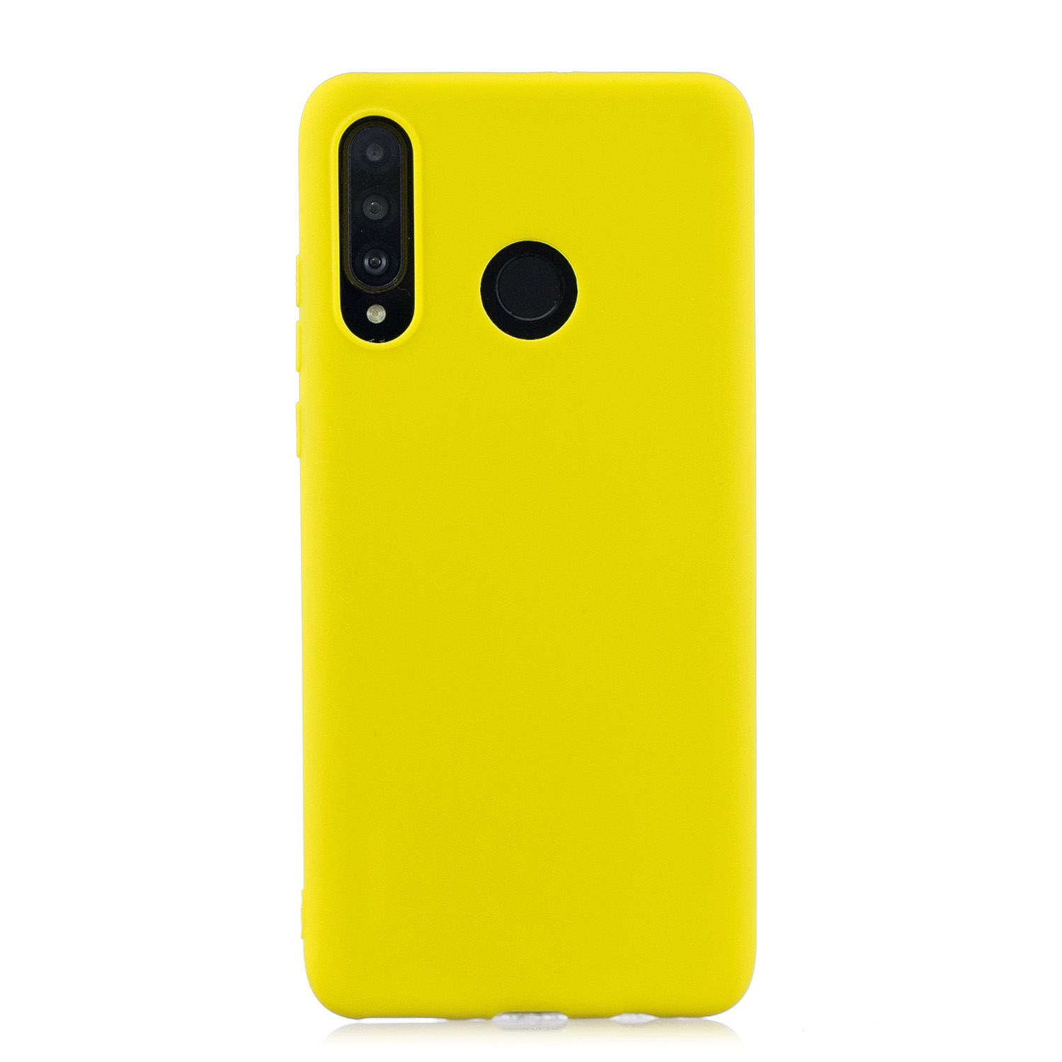 For HUAWEI P30 LITE/NOVA 4E Lovely Candy Color Matte TPU Anti-scratch Non-slip Protective Cover Back Case yellow