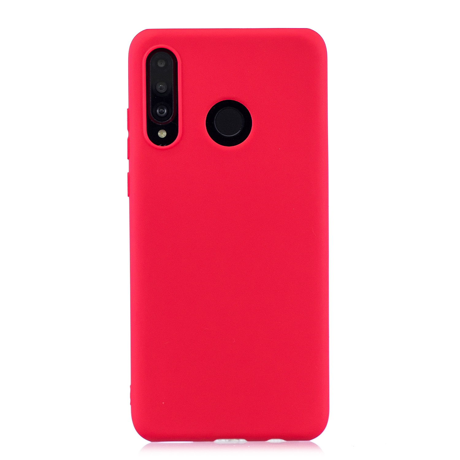 For HUAWEI P30 LITE/NOVA 4E Lovely Candy Color Matte TPU Anti-scratch Non-slip Protective Cover Back Case red