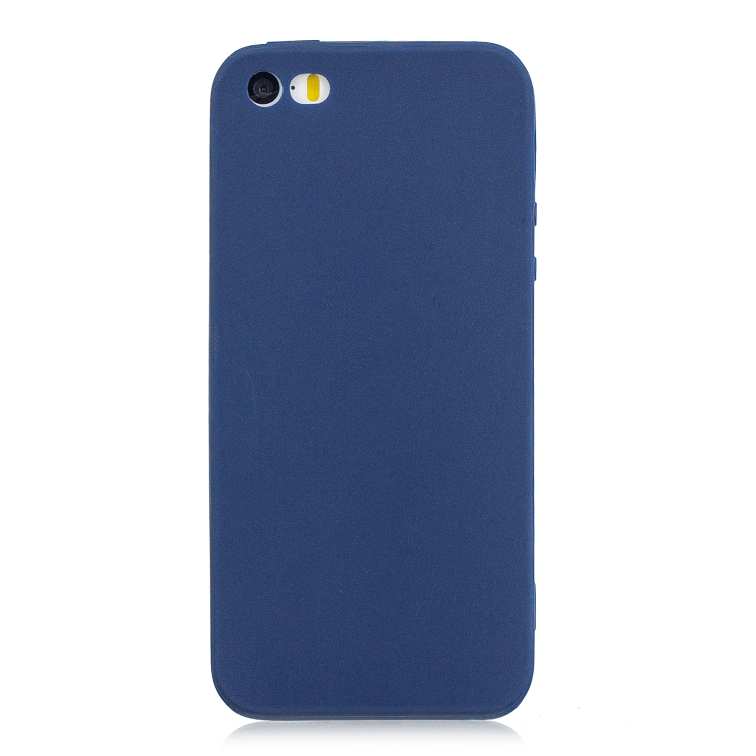for iPhone 5/5S/SE Lovely Candy Color Matte TPU Anti-scratch Non-slip Protective Cover Back Case Navy