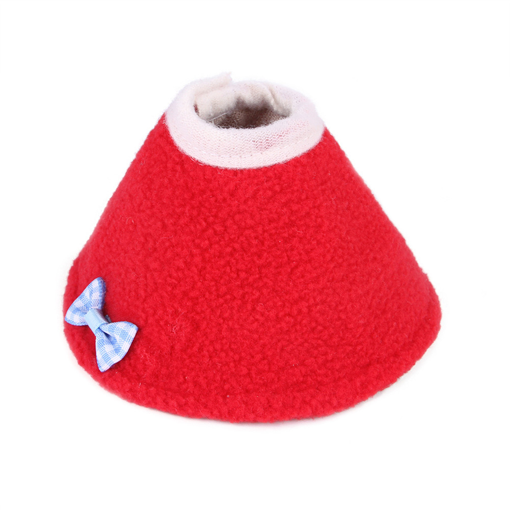 Pet Bird Cloak Collar Parrot Protection Cone Neck Recovery Anti Bite Clothes red_S