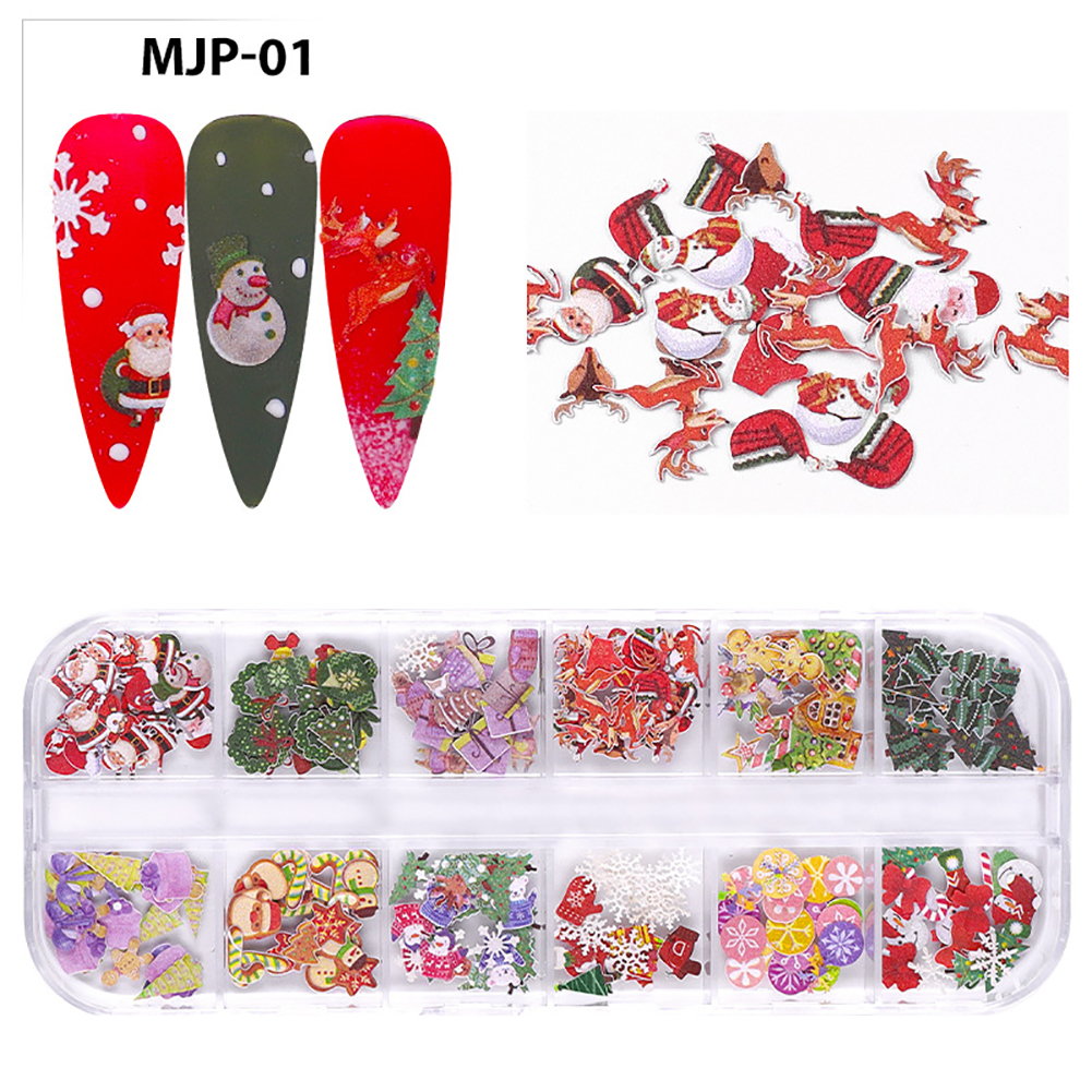 Nail Decorator Butterflies with little flowers for Christmas and Halloween nail art Nail jewelry set 01