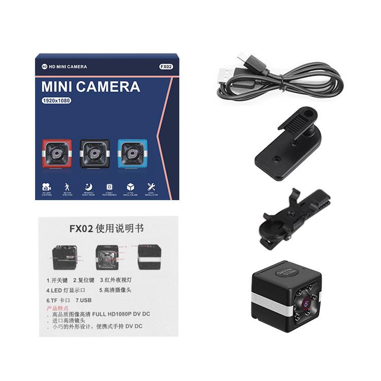 Fx02 Mini Camera Hd 1080p Infrared Night Sight Camcorder Support 32gb Tf Motion Dvr Micro Camera Sport Dv Video Small Camera black