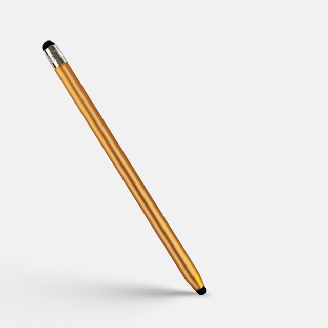 2 in 1 Stylus Pen Capacitive Screen Touch Pencil Drawing Pen for Tablet Android Smartphone Golden